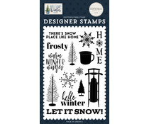 Carta Bella Snow Place Like Home Clear Stamps (CBWW142040)