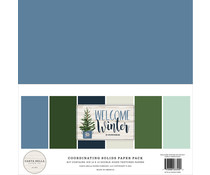 Carta Bella Welcome Winter 12x12 Inch Coordinating Solids Paper Pack (CBWW142015)
