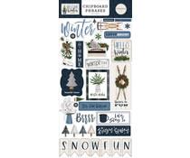 Carta Bella Welcome Winter Chipboard Phrases (CBWW142022)
