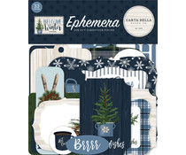 Carta Bella Welcome Winter Ephemera (CBWW142024)