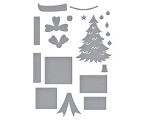 Spellbinders Shopping Cart Holiday & Presents Etched Dies (S4-1143)