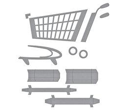 Spellbinders 3D Shopping Cart Etched Dies (S4-1141)