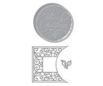 Spellbinders Merry Filigree Card Builder Etched Dies (S5-464)