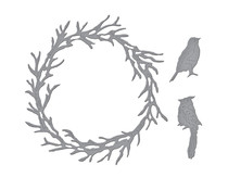Spellbinders Woodland Wreath and Feathered Friends Etched Dies (S5-454)