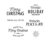 Spellbinders Christmas Time Sentiments Clear Stamp (STP-056)