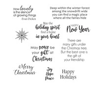 Spellbinders Holiday Quotes Clear Stamp (STP-044)