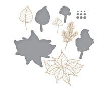 Spellbinders Holiday Florals Glimmer Hot Foil Plate & Die (GLP-289)