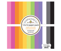 Doodlebug Design Happy Haunting 12x12 inch Textured Cardstock Solid Paper Pack (7446)