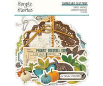 Simple Stories Simple Vintage Country Harvest Chipboard Clusters (16325)