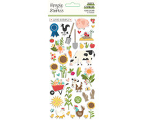 Simple Stories Homegrown Puffy Stickers (16219)