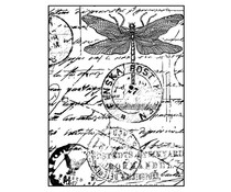 Crafty Individuals Dragonfly Post Unmounted Rubber Stamps (CI-001)
