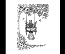 Crafty Individuals Fairy Rose Unmounted Rubber Stamps (CI-579)