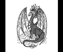 Crafty Individuals Gentle Dragon Unmounted Rubber Stamps (CI-580)