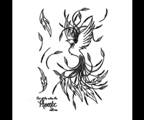 Crafty Individuals Rising Phoenix Unmounted Rubber Stamps (CI-582)