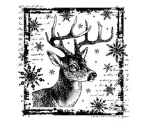 Crafty Individuals Snowflake Rudolph Unmounted Rubber Stamps (CI-332)