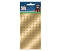 Gorjuss Christmas Mini Foil Alphabet Stickers (GOR 828900)