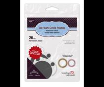 Scrapbook Adhesives 3D Foam Circle Frames Black (26pcs) (01406-10)