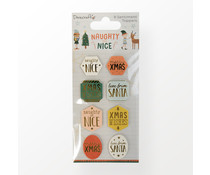 Dovecraft Naughty or Nice Sentiment Toppers (DCTOP211X21)