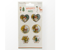 Dovecraft Naughty or Nice Shaker Stickers (DCSTK123X21)