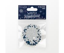 Dovecraft Winter Wonderland Glitter Tags (DCTOP206X21)