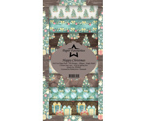 Paper Favourites Happy Christmas Slim Paper Pack (PFS030)