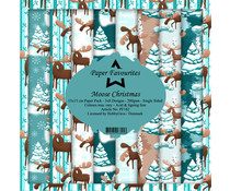 Paper Favourites Moose Christmas 6x6 Inch Paper Pack (PF182)
