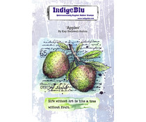 IndigoBlu Apples A6 Rubber Stamps (IND0864)