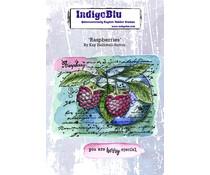 IndigoBlu Raspberries A6 Rubber Stamps (IND0865)