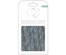 Craft Consortium Silver Decal Decoupage Papers (CCXDECP043)