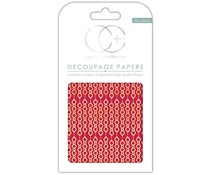 Craft Consortium Red Paper Chain Decoupage Papers (CCXDECP031)