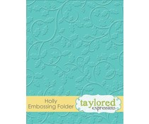 Taylored Expressions Holly Embossing Folder (TEEF38)
