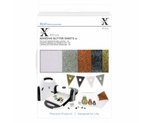 Xcut Xtra A5 Adhesive Glitter Sheets (10pcs) Metallics (XCU 174406)