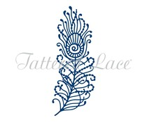 Tattered Lace Peacock Feather (D1291)