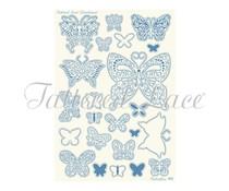 Parchment Lace Parchment Grid 2 Butterflies (PLG002)