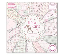 """First Edition 8""""x8"""" Pad - It's a Girl (FEPAD079)"""