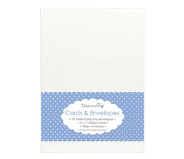 Dovecraft 10 White 5x7 Cards & Envelopes (DCCE026)