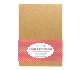 Dovecraft 10 Kraft 5x7 Cards & Envelopes (DCCE023)
