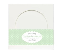 Dovecraft 10 Circle Window 6x6 Cards & Envelopes (DCCE012)