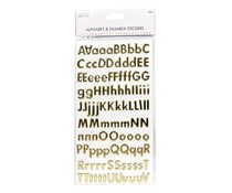 Simply Creative Alphabet & Number Stickers - Classic Foil Gold (SCSTK017)