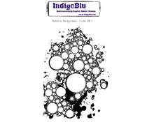IndigoBlu Bubbles Background Mounted A6 Rubber Stamp (BB I)