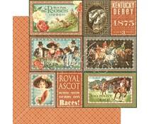 Graphic 45 Royal Ascott 12x12 Inch 25 pc. (4501451)