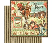 Graphic 45 Off to the Races 12x12 Inch 25 pc. (4501446)