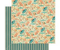 Graphic 45 Café Parisian Parasol Bouquet 12x12 Inch 25 pc. (4501432)