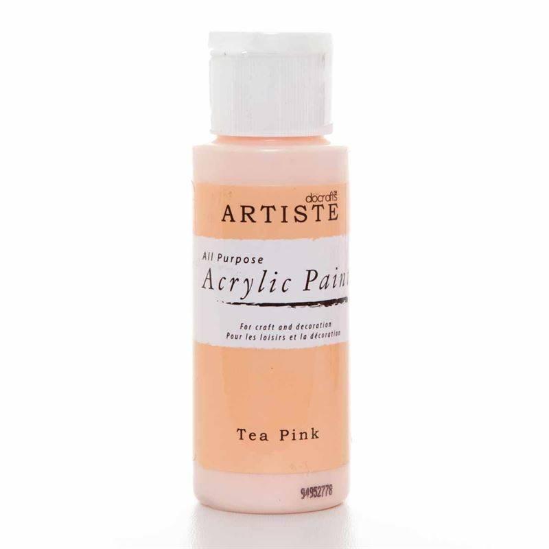 Docrafts Acrylic Paint 2oz Tea Pink Doa 763220