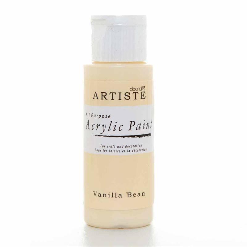 Docrafts Acrylic Paint 2oz Vanilla Bean Doa 763201
