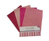 Dovecraft A4 Felt Multipack Pinks (DCFL018)