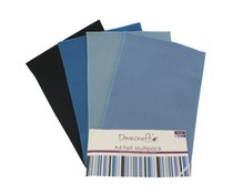 Dovecraft A4 Felt Multipack Blues (DCFL019)
