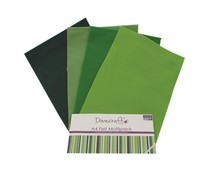 Dovecraft A4 Felt Multipack Greens (DCFL020)