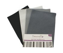 Dovecraft A4 Felt Multipack Blacks & Greys (DCFL023)