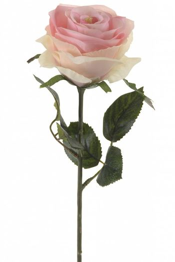 Roze kunstroos Simone 45 cm